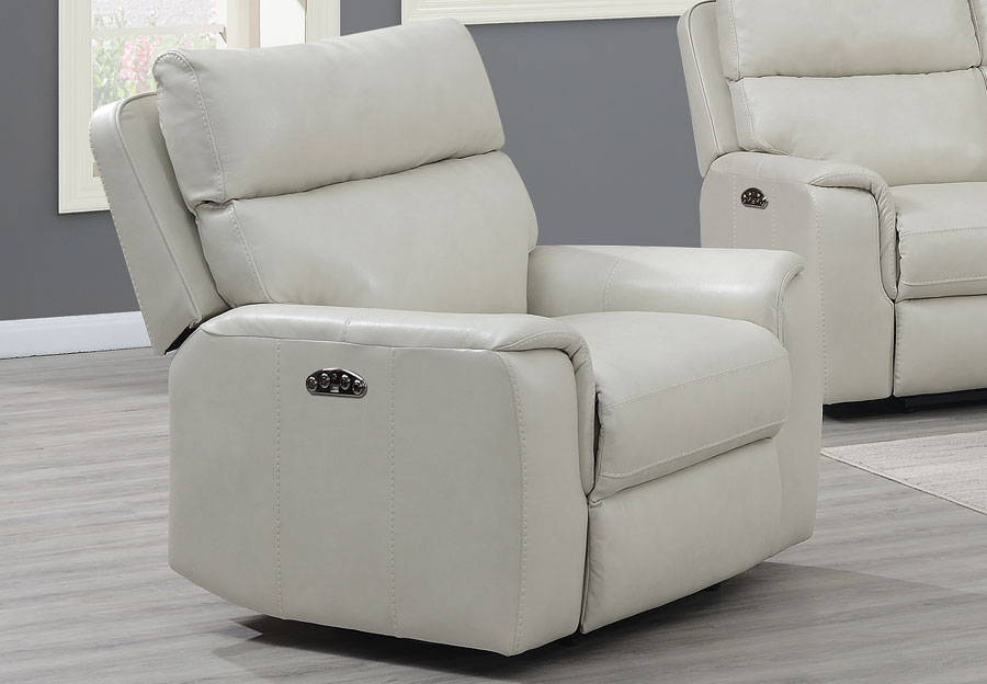 Trend Oberon Cream Leather Dual Power Recliner
