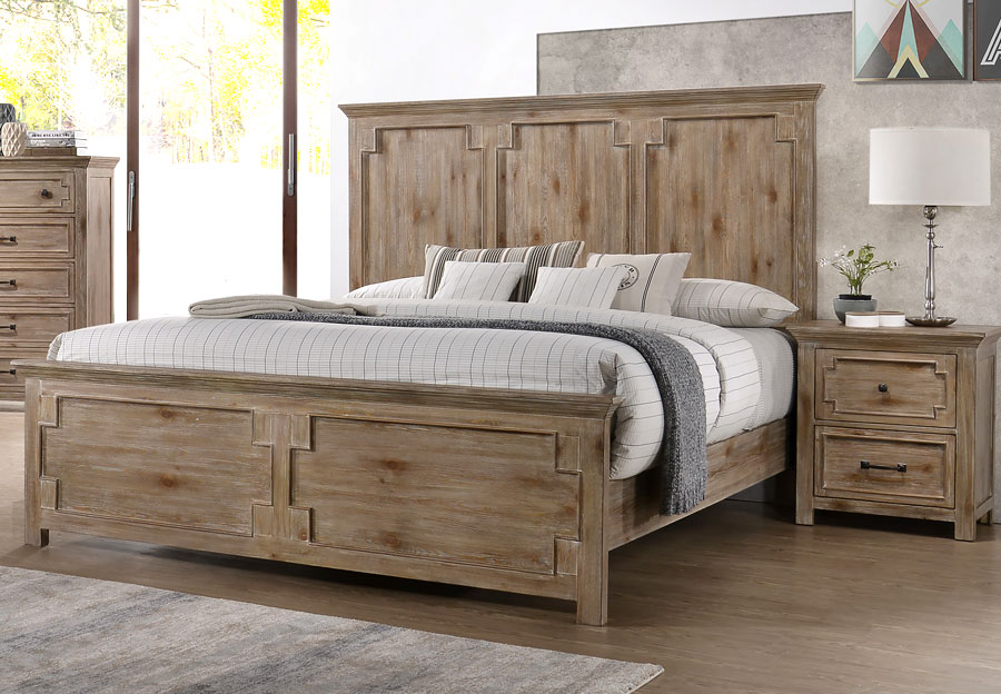 Lane Sante Fe Natural King Headboard, Footboard and Rails
