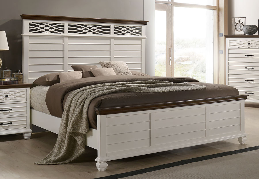 Lane Bellebrooke White Queen Headboard, Footboard and Rails