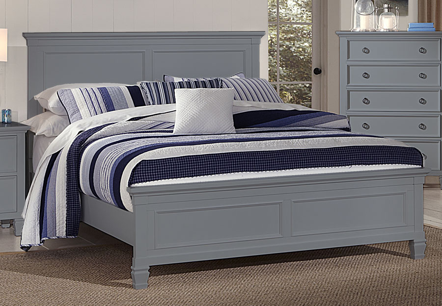 New Classic Tamarack Gray King Headboard, Footboard and Rails