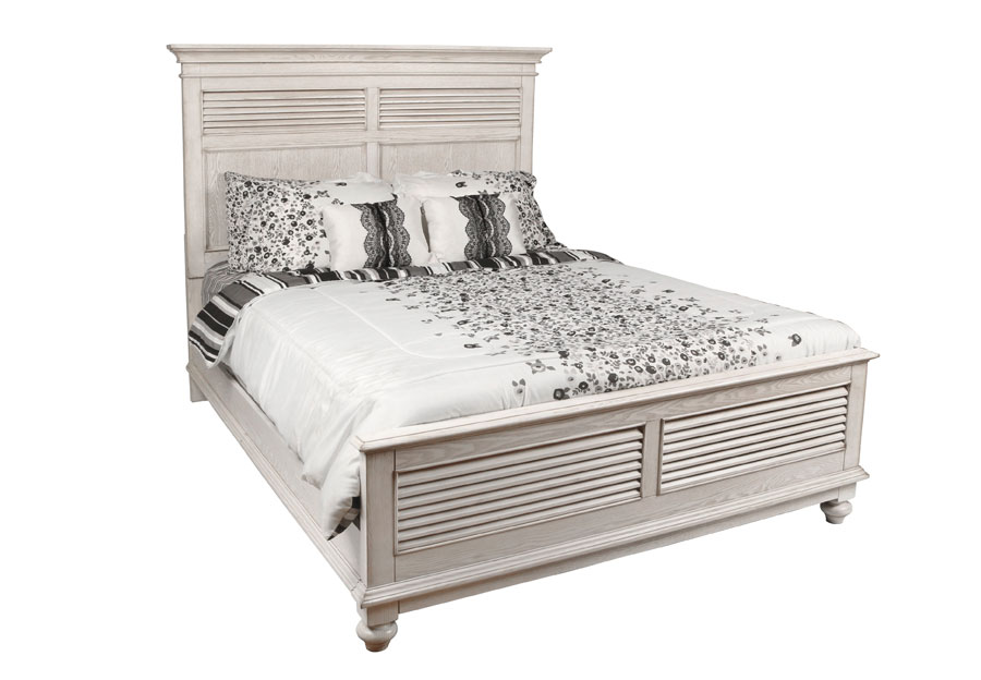 New Classic Lakeport White King Headboard, Footboard and Rails