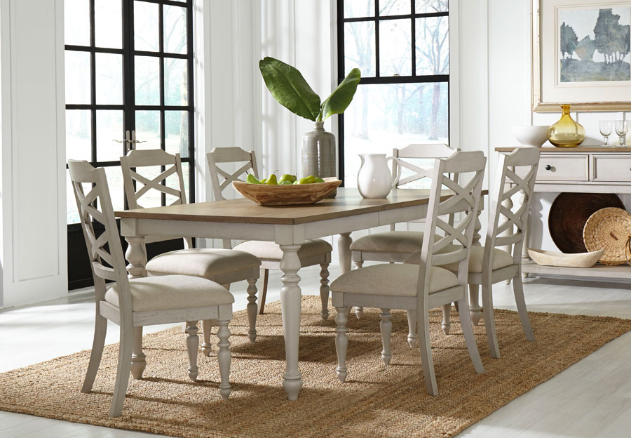 Standard Larson Light Dining Table with Four Chairs