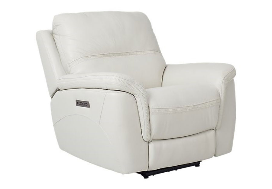 Cheers Santelli Ice Triple Power Leather Match Recliner