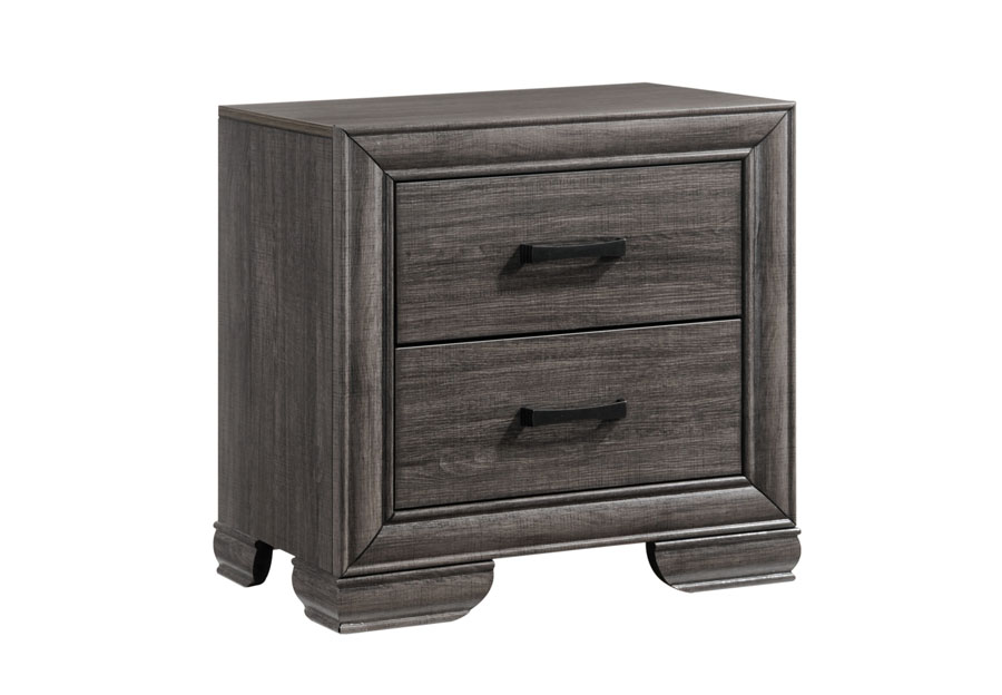 Lifestyles Shelton Grey Nightstand