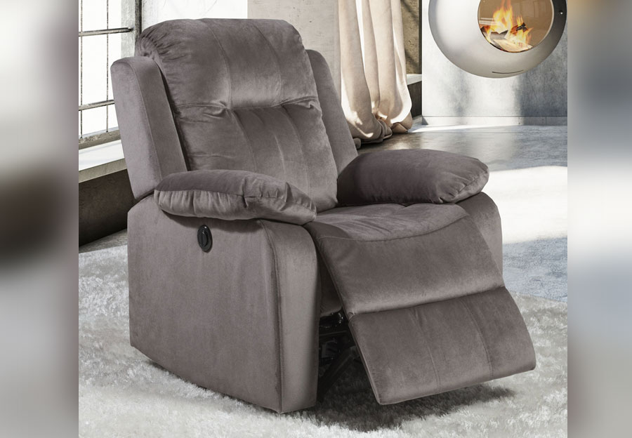 Lifestyles Cosmo Grey Power Recliner