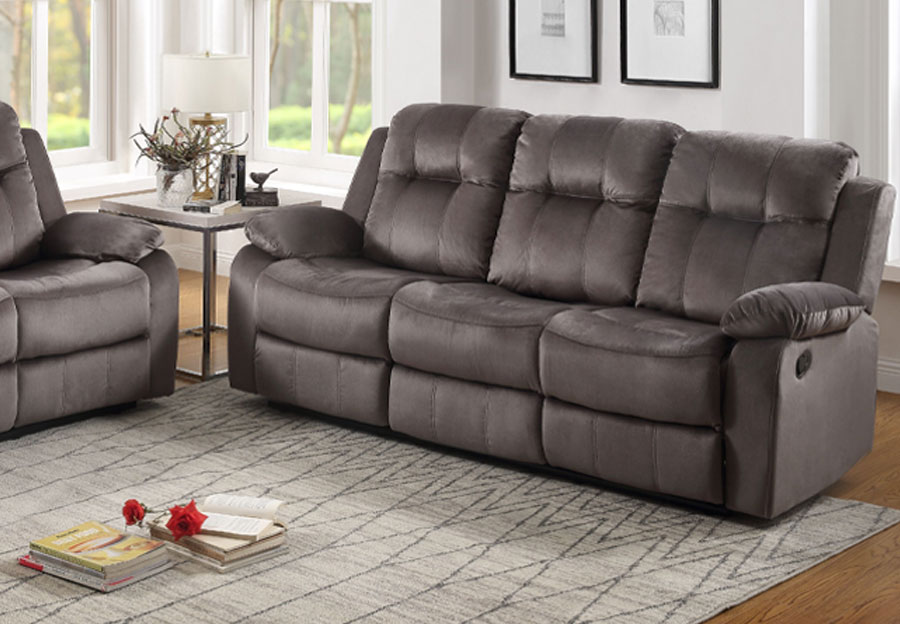 Lifestyles Cosmo Grey Manual Reclining Sofa