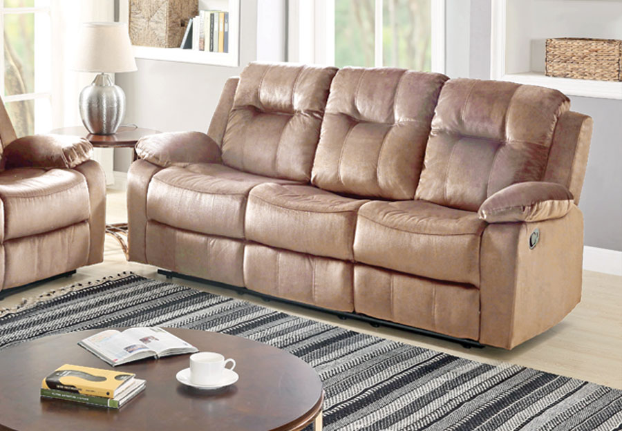 Lifestyles Cosmo Taupe Manual Reclining Sofa