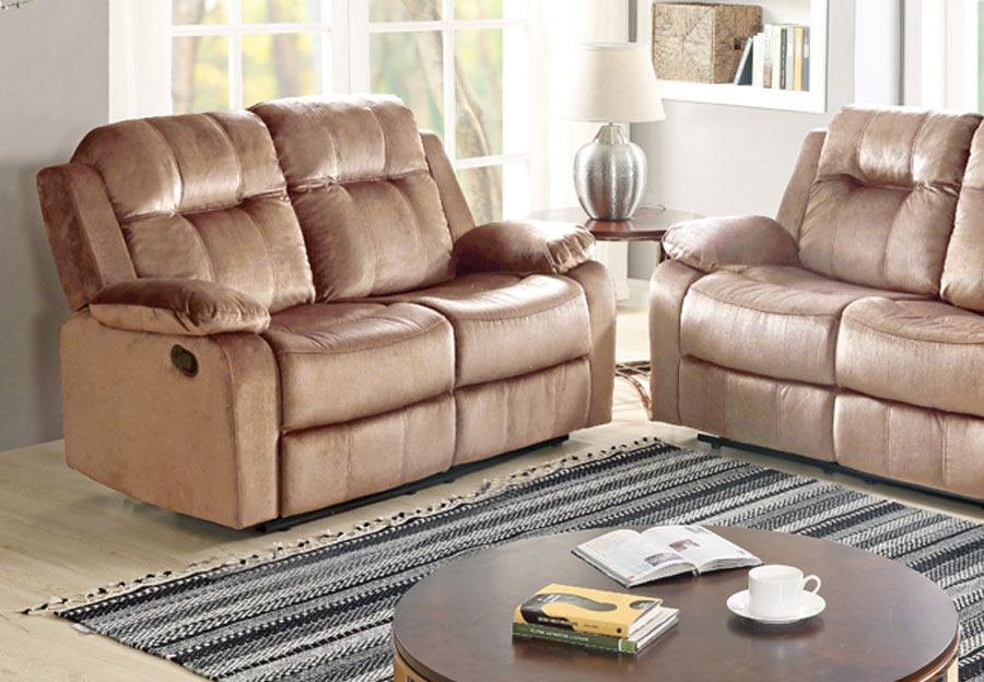 Lifestyles Cosmo Taupe Manual Reclining Loveseat