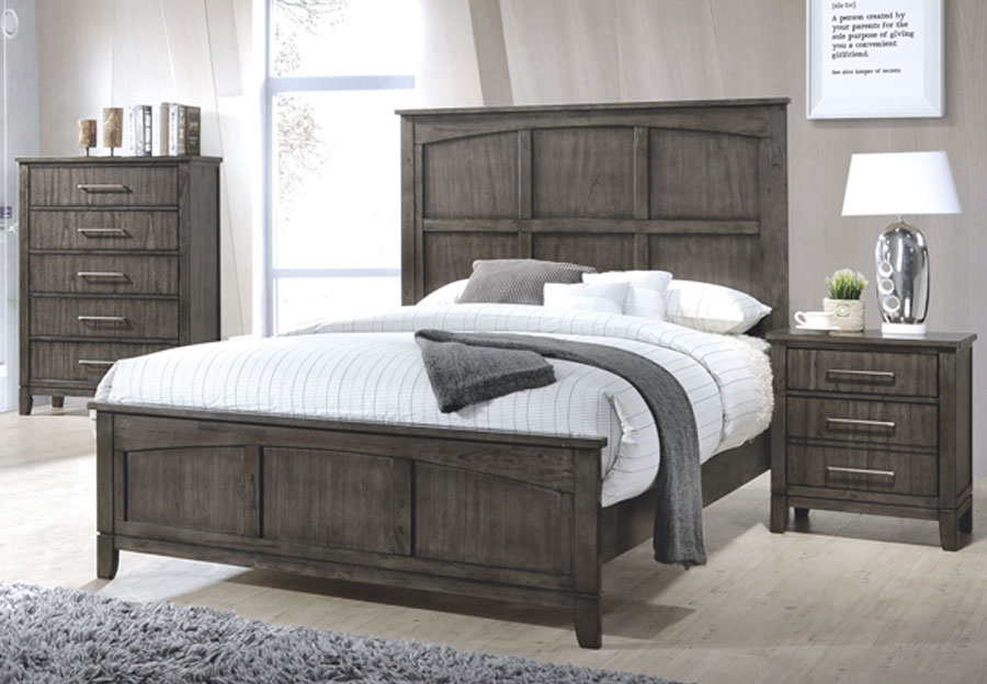 Simmons Preston Grey 3 Piece King Bed