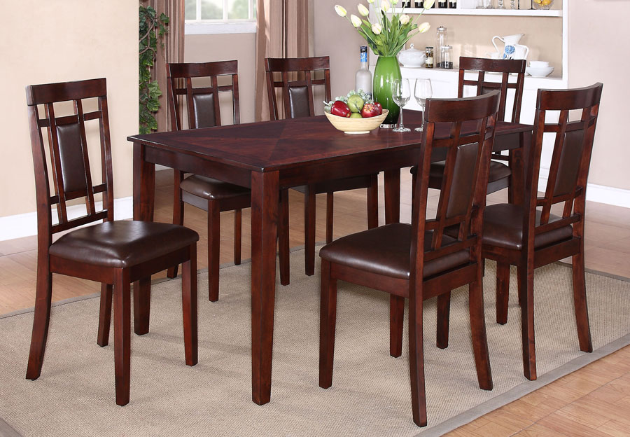 Lifestyles Westlake Espresso Dining Table and Four Side Chairs