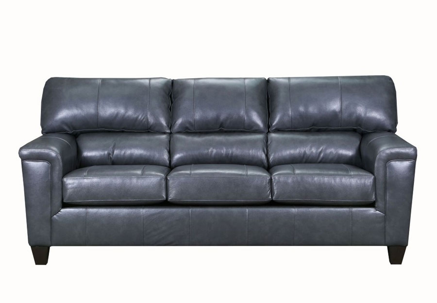 Lane Cypress Fog Leather Match Sofa