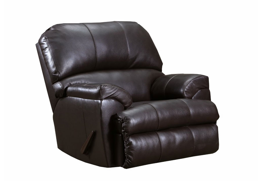 Lane Cypress Bark Leather Match Recliner