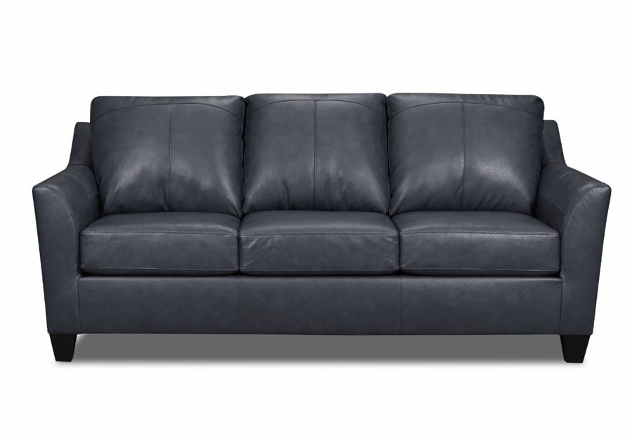 Lane Avery Shale Leather Match Sleeper Sofa