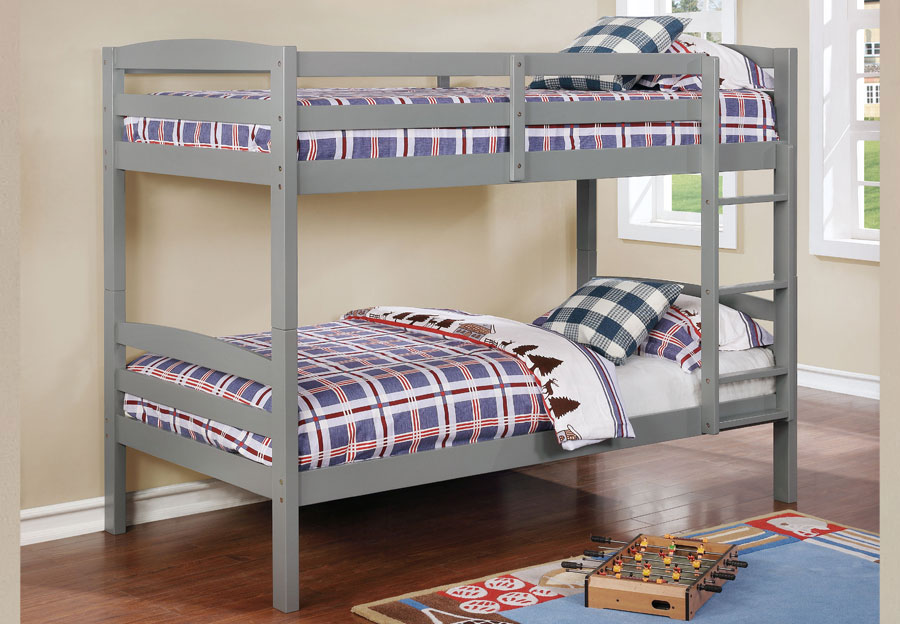 Lifestyles Taylor Grey Twin Over Twin Bunk Bed