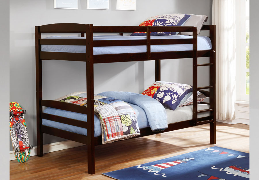Lifestyles Taylor Espresso Twin Over Twin Bunk Bed