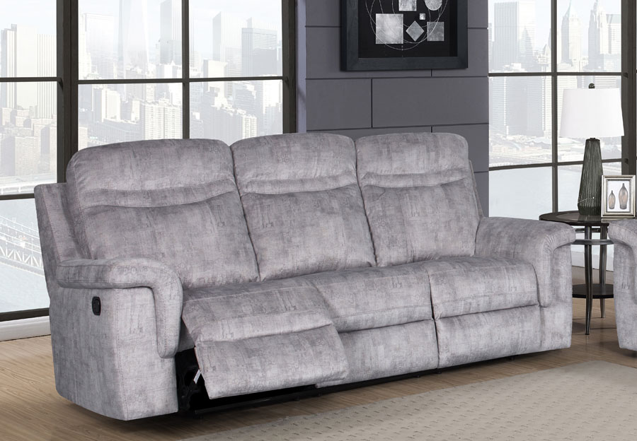 Global Cappa Grey Manual Recline Sofa