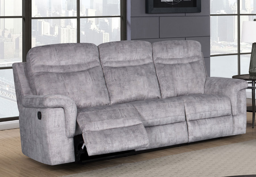 Global Cappa Grey Power Recline Sofa