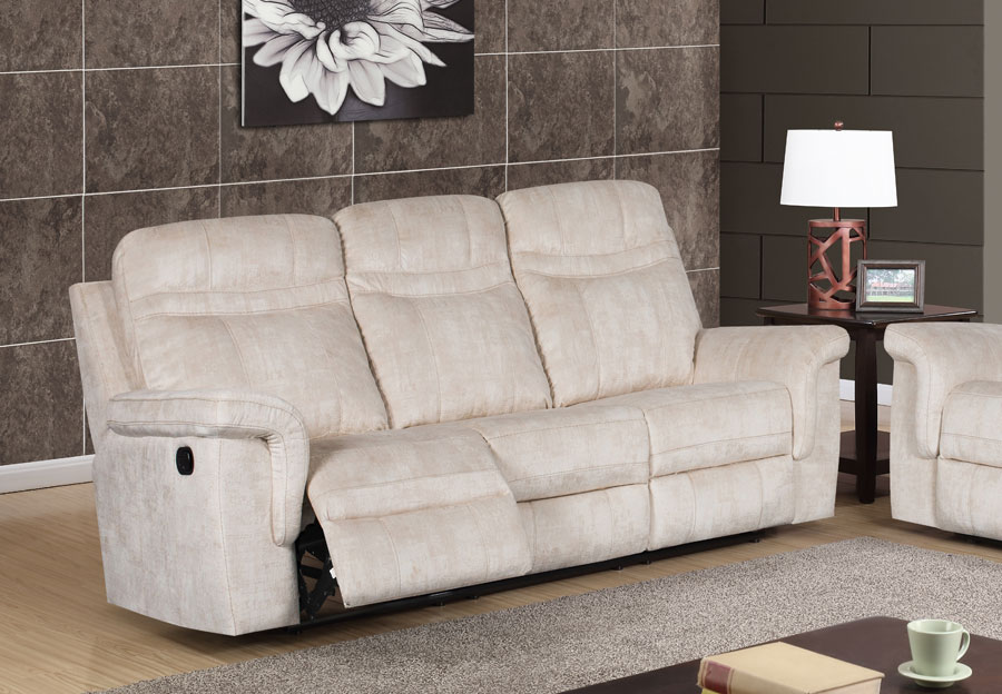 Global Cappa Beige Manual Recline Sofa