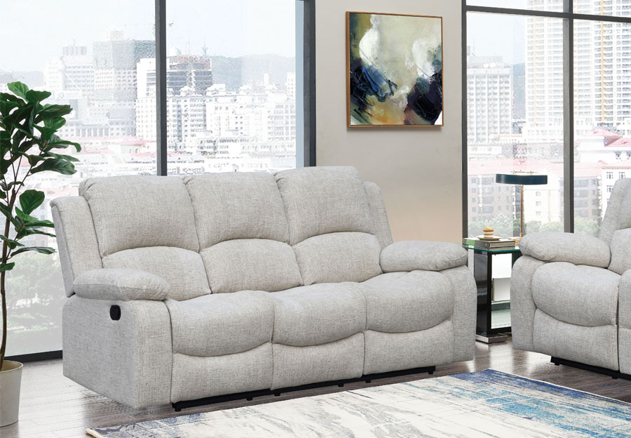 Global Parrot Cream Manual Recline Sofa