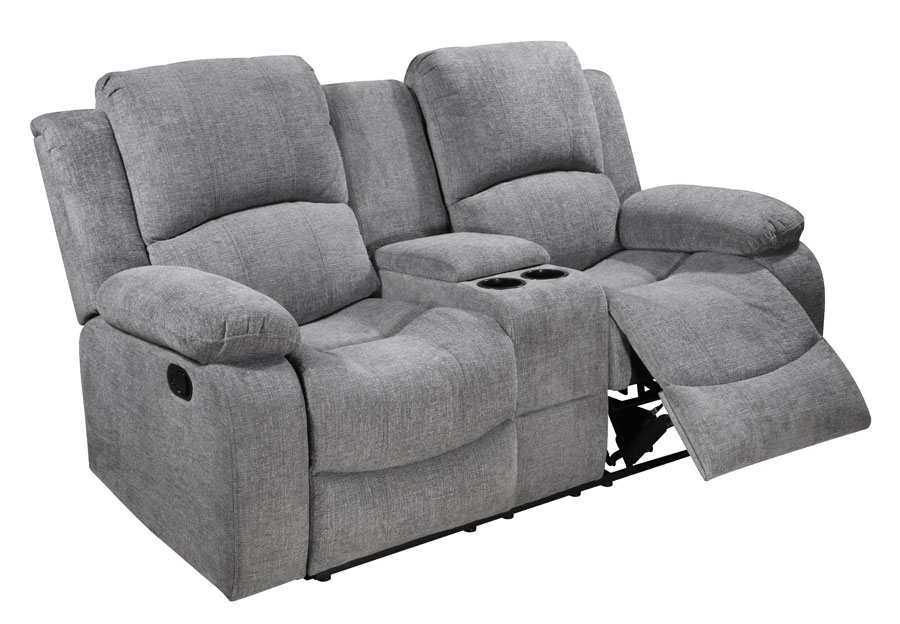 Global Parrot Dove Manual Recline Loveseat with Console