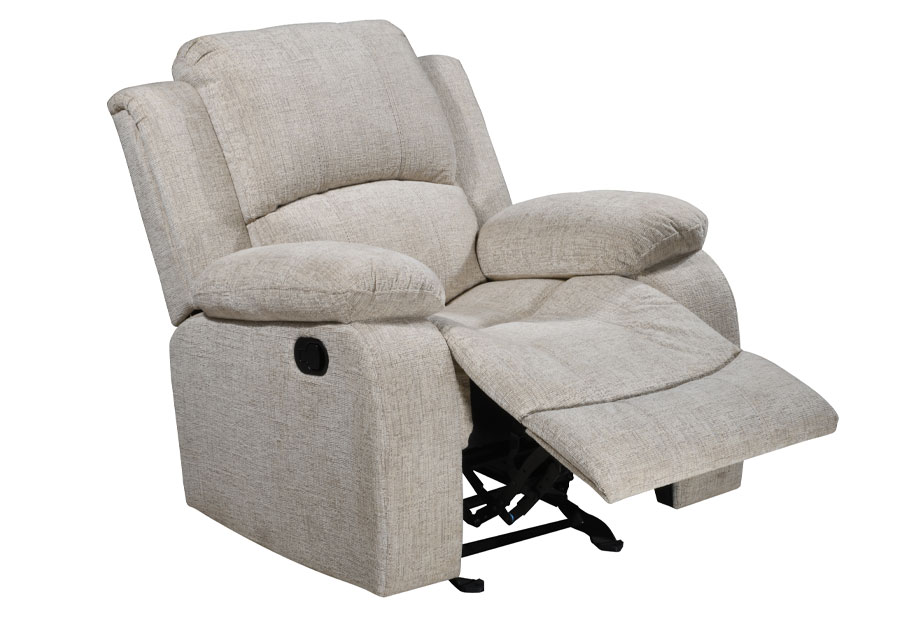 Global Parrot Cream Glider Recliner