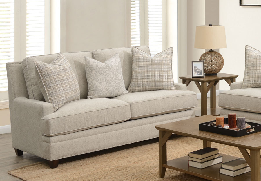 Aria Blake Loveseat With Sara Sterling and Key West Winter Accent Pillows