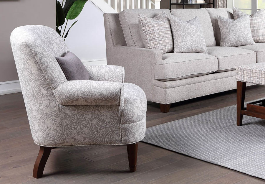 Aria Sara Sterling Accent Chair