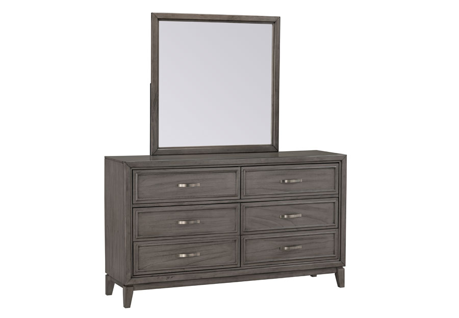 Standard Winchester Grey Six Drawer Dresser