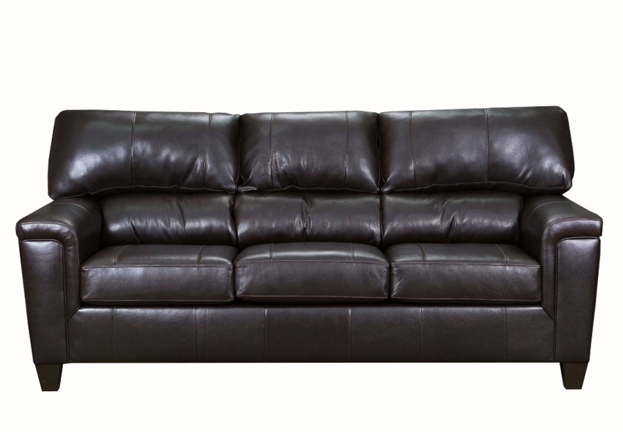Lane Cypress Bark Leather Match Sofa