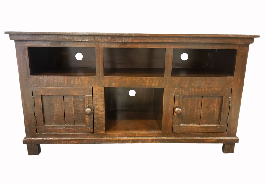Vintage Furniture 50in Ryder Media Console With Two Doors And Shelves In Rodeo