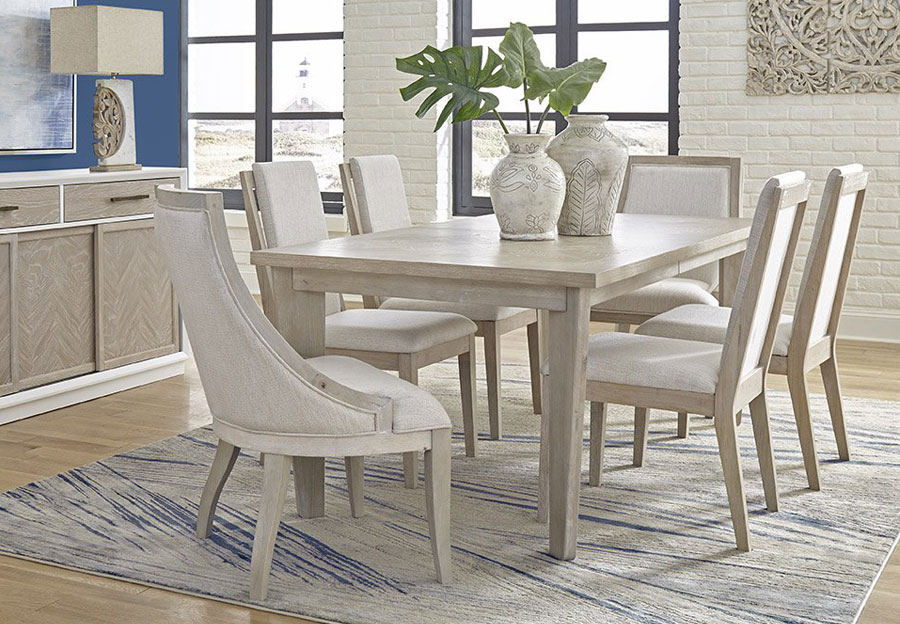 Panama Jack Boca Grande Dining Table with Four Chairs and Leaf