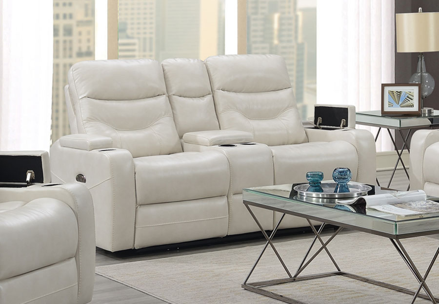 Trend Jackson Transformer Cream Dual Power Loveseat