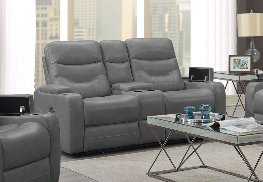 Trend Jackson Transformer Grey Dual Power Loveseat