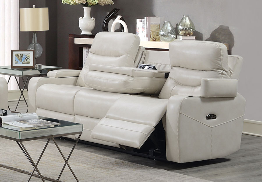 Trend Jackson Transformer Cream Dual Power Sofa With Dropdown