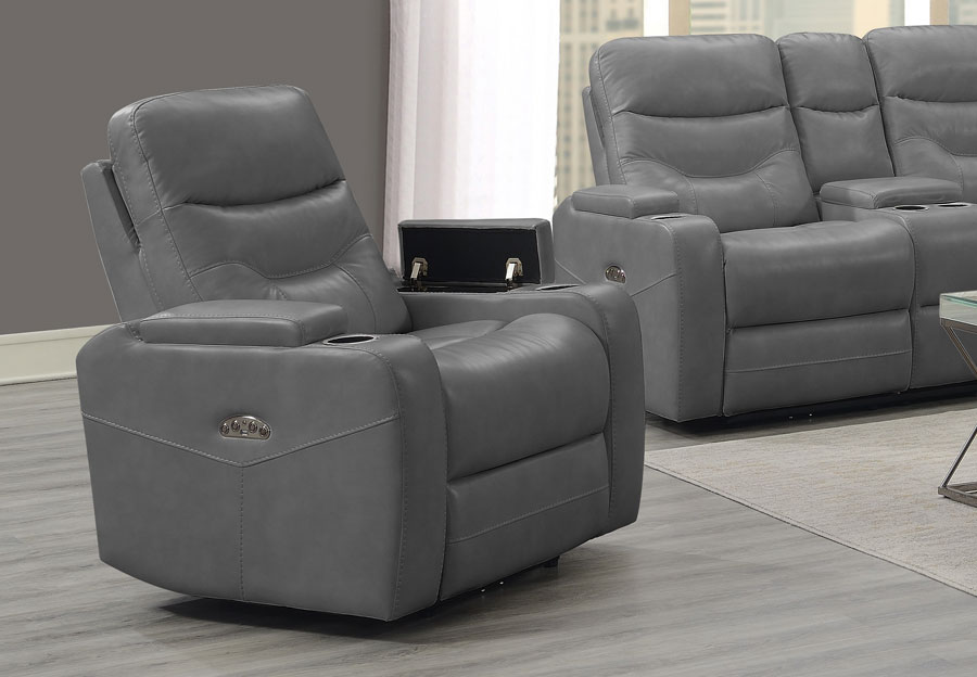 Trend Jackson Transformer Grey Dual Power Recliner