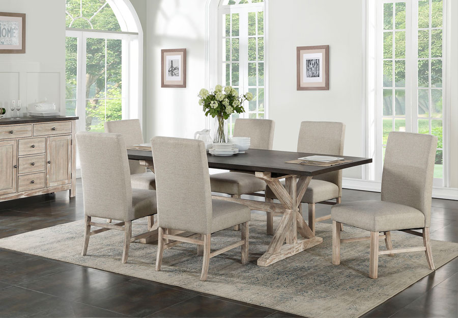 Standard Jefferson Dining Table With Four Chairs