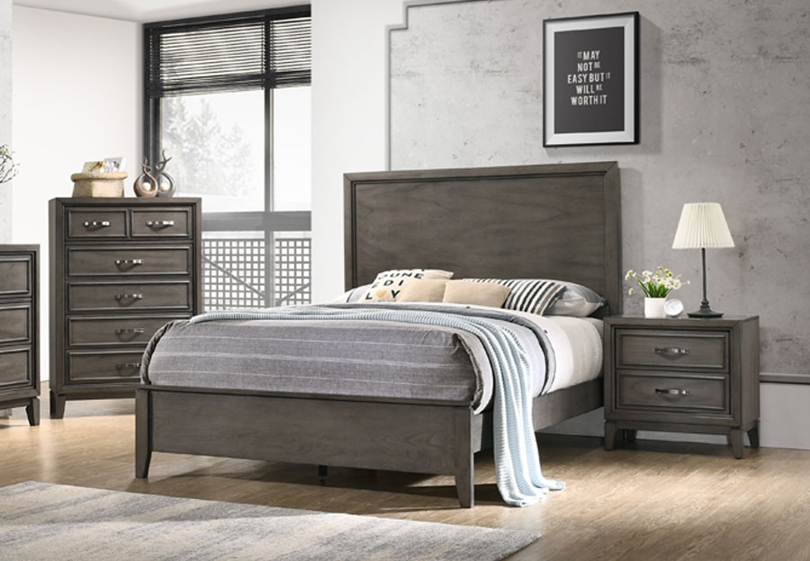 Standard Winchester Grey Queen Headboard, Footboard and Rails