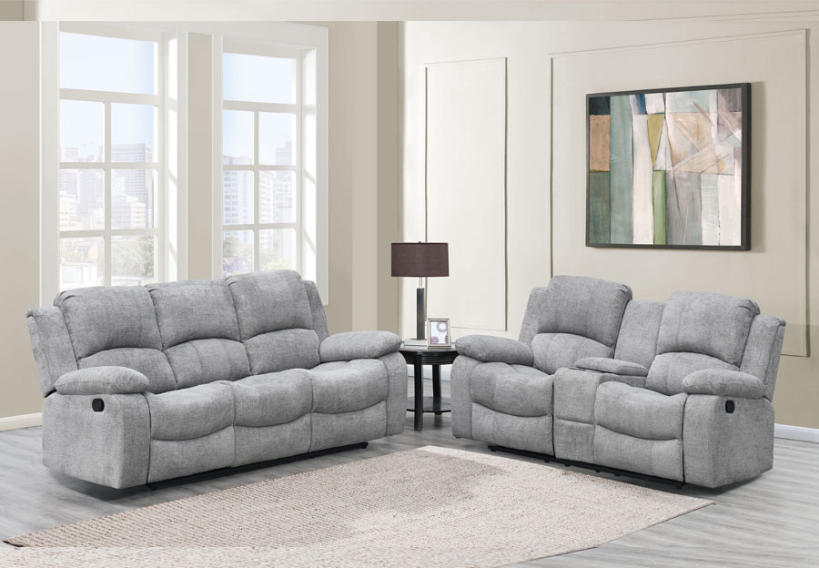 Global Parrot Dove Reclining Sofa and Console Loveseat