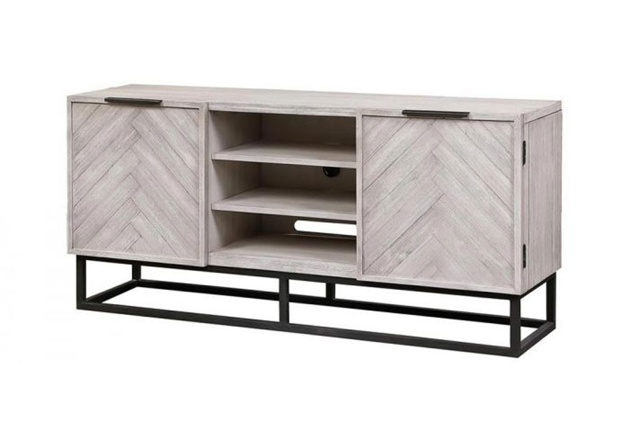 Coast to Coast Aspen Court II White Two Door Media Console
