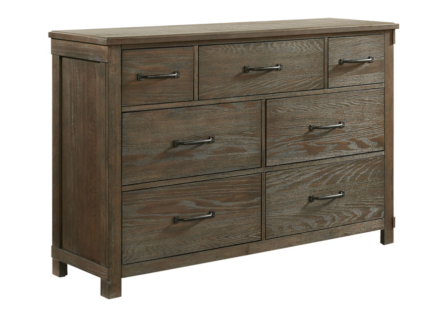 Elements Scott Brown Seven Drawer Dresser