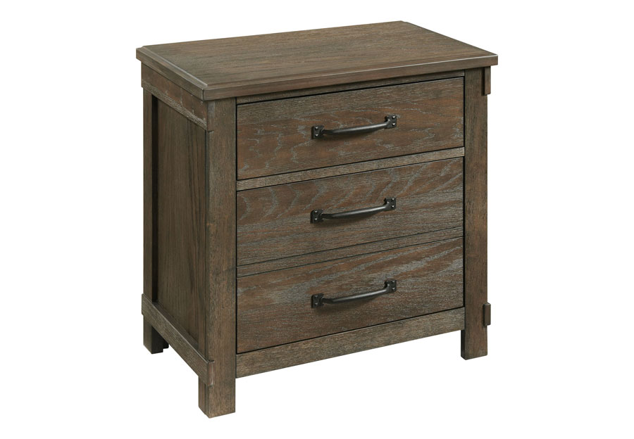 Elements Scott Brown Two Drawer Nightstand