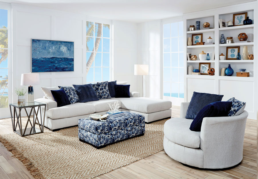 Albany Romano Cream Sectional with Chaise