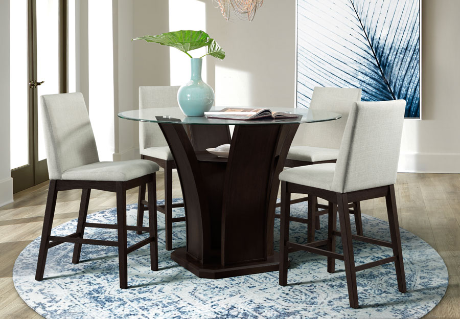 Elements Dapper Round Counter Height Dining Table with Four Chairs