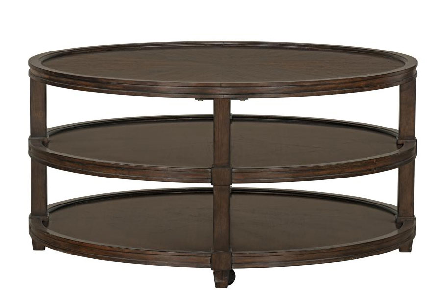 Standard Bryant Round Cocktail Table with Casters