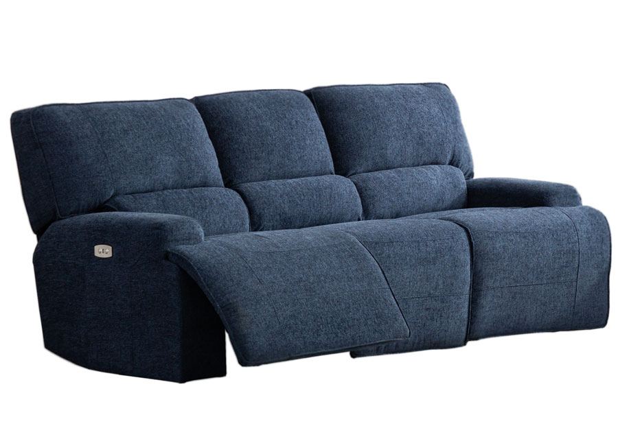 Lifestyles Galaxy Denim Manual Reclining Sofa