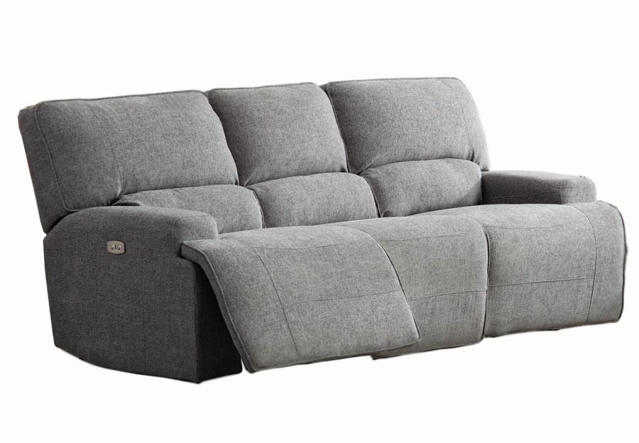 Lifestyles Galaxy Storm Gray Manual Reclining Sofa