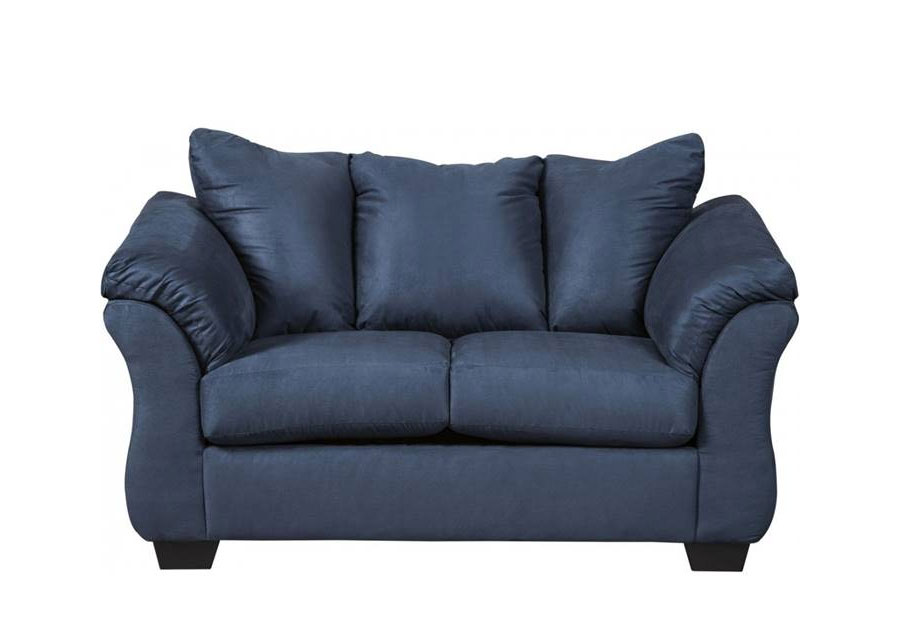 Affordable Furniture Sensations Cobalt Microfiber Loveseat