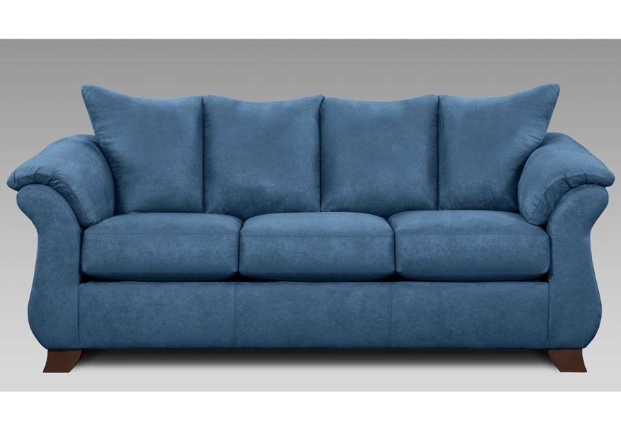 Affordable Furniture Sensations Cobalt Queen Sleeper Sofa With Innerspring Mattress