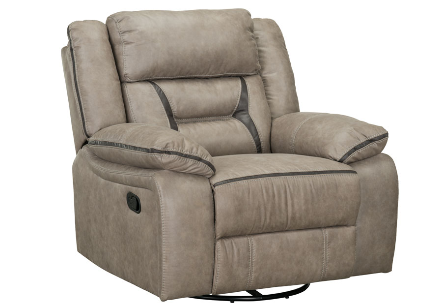 Lane Engage Taupe Dual Power Swivel Glider Recliner