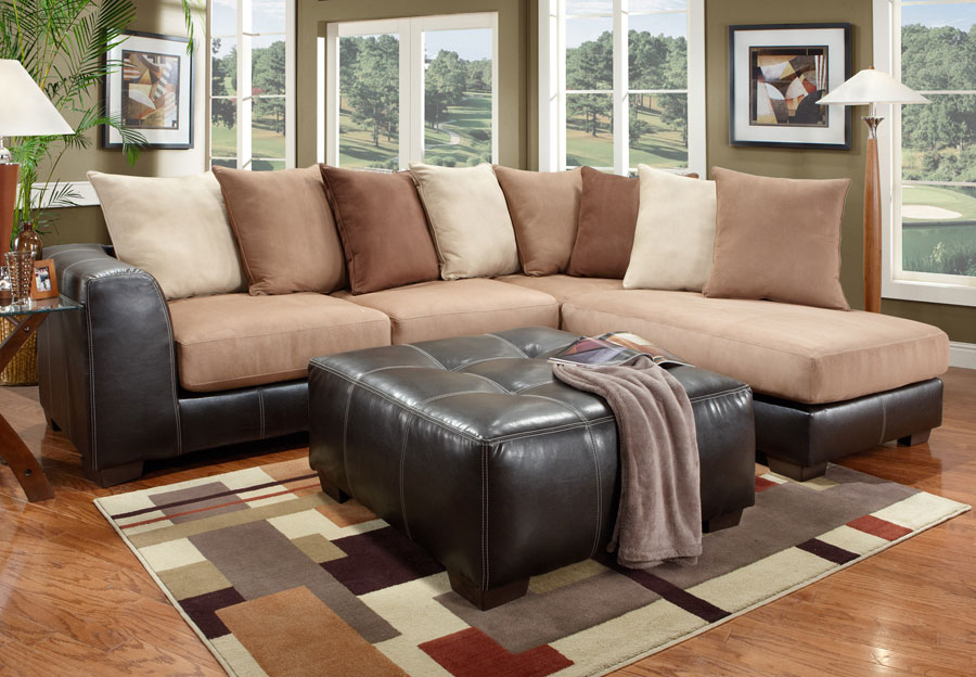 Affordable Furniture Sea Rider Brown Sectional